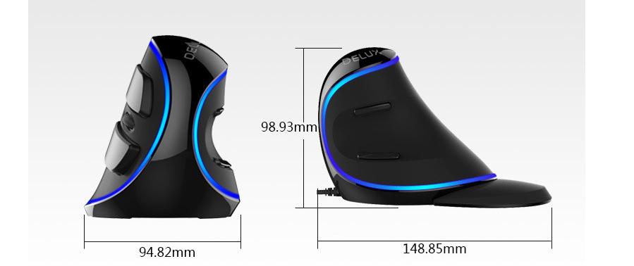 souris ordinateur sans fil ergonomique verticale rgb