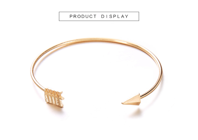 open arrowed gold and vintage bracelet