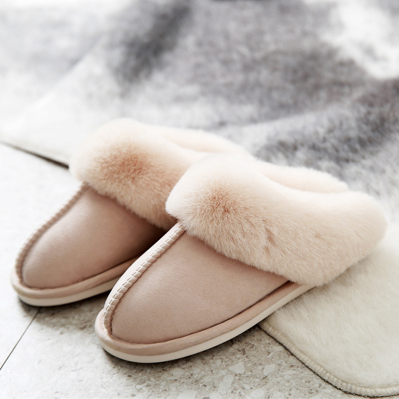 Suede Cotton Slippers for winter