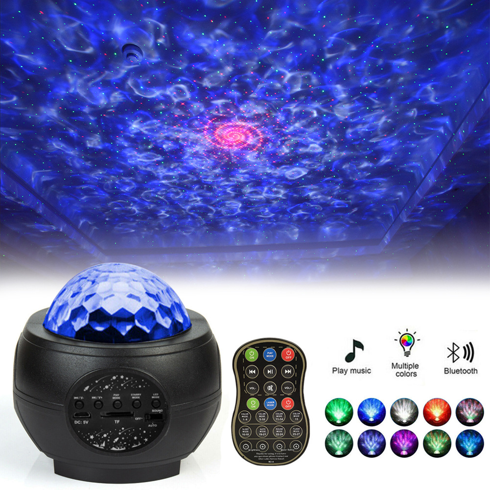 Star Projection Night Light USB Water grain starry sky projection lamp
