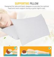 Cotton Satin Comfort Pillow Quality Bed Pillow  2 Pieces