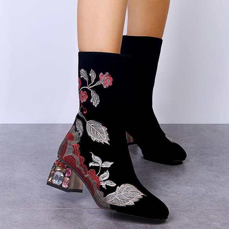 Black waterproof Flower Boots