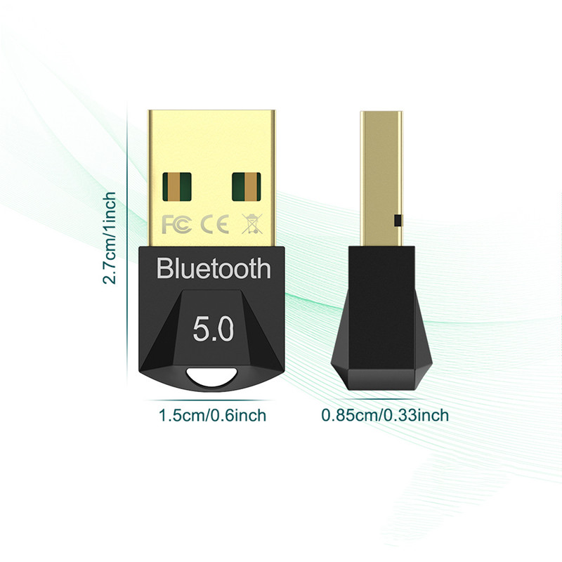 Wireless USB Bluetooth 5.0 Transmitter Receiver Dongle