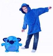 Wearable Kids Pets Hoodie Blanket Hoodie Children Sweatshirt Pet Shape Winter Fleece Pet Hooded Pajamas For Kids Holiday Gift