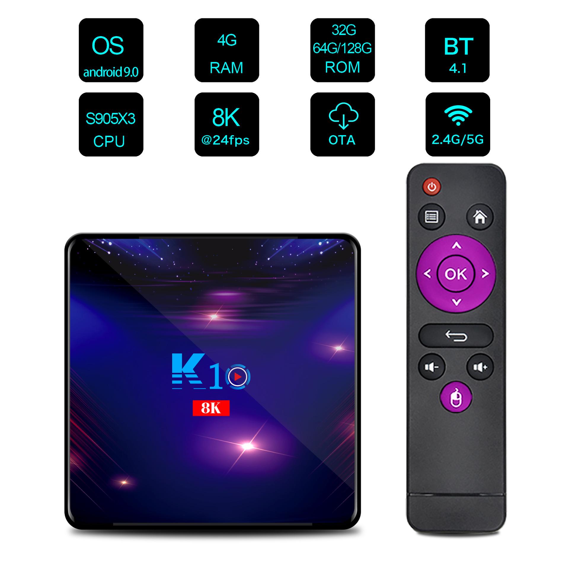 K10 Amlogic S905X3 TV-Box