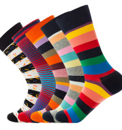 Multipack High Ankle Medium Thickness Fun Colorful Casual Dress Cotton Socks for Men and Teen boy