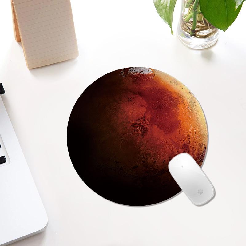 tapis de souris décoratif planète ronde