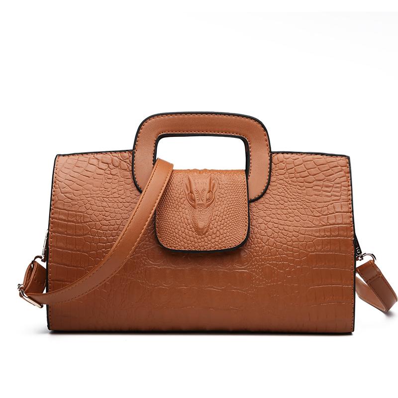 Crocodile Faux Leather Handbag 13