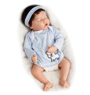 17 inches Real Lifelike Rebekah Reborn Baby Doll Girl, Lifelike Newborn Baby Dolls with Clothes