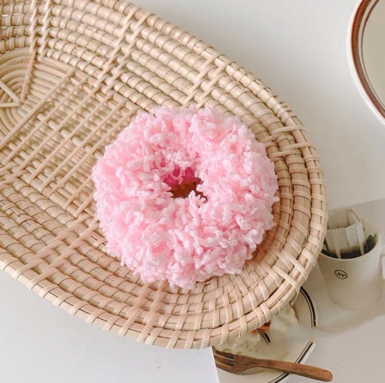 pink scrunchie