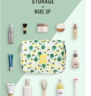 Travel MakeUp Korean Style Tas Kosmetik Gantung Waterproof  Bag Portable Multifungsi