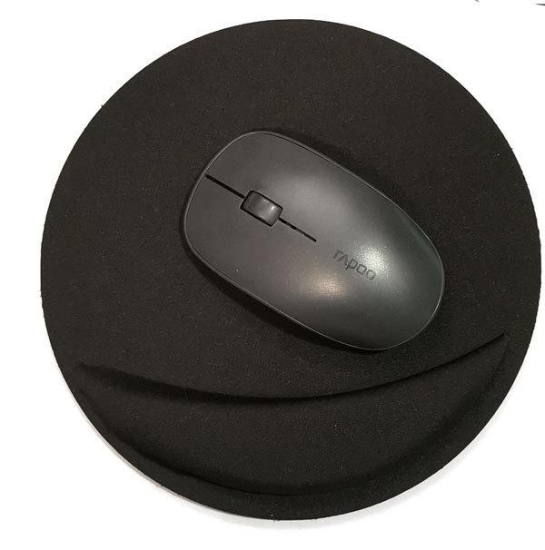 support repose-poignet rond noir