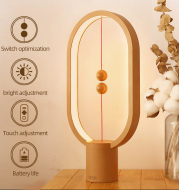 Creative Heng Balance Lamp LED Table Night Light USB Powered Dimming Magnetic Switch Desk Lamp For Bedroom Office Decor