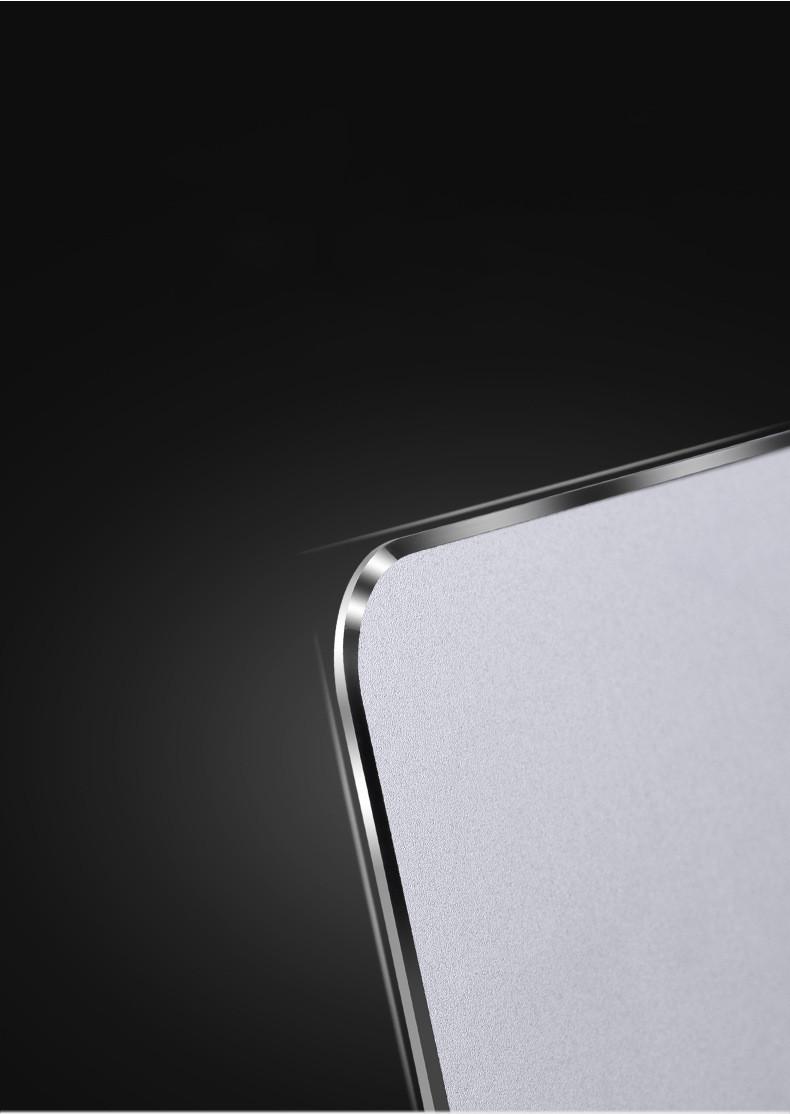 Tapis de souris double face simili cuir et aluminium