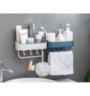 Rak Kamar Mandi dan Dapur Plastik Shelf Organizer Kitchen Bathroom Storage T7138