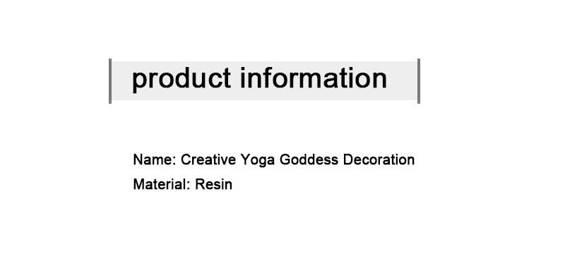 Yoga Figure Ornaments 9