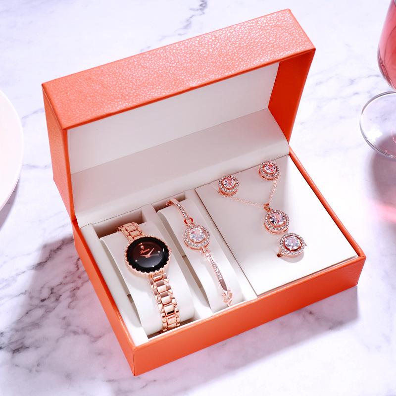 Women's Watch Swan Jewelry Set