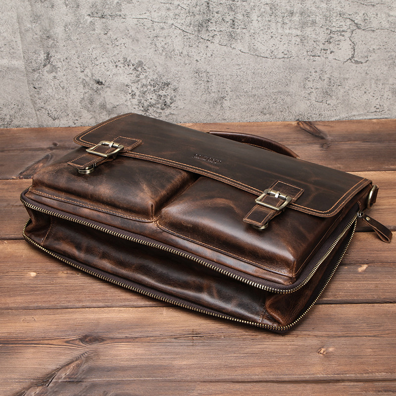 Leather Mens Business Briefcase 10