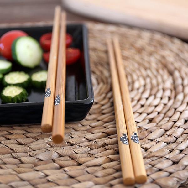 Palillos de bambú diseño Fat fish