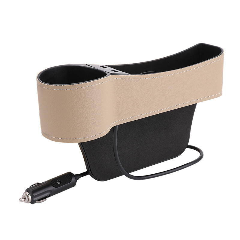 Car Seat Gap Filler Dual USB Charger Cup Holder Multifunctional Organizer Between Bucket Seats Console More Space At Your Car