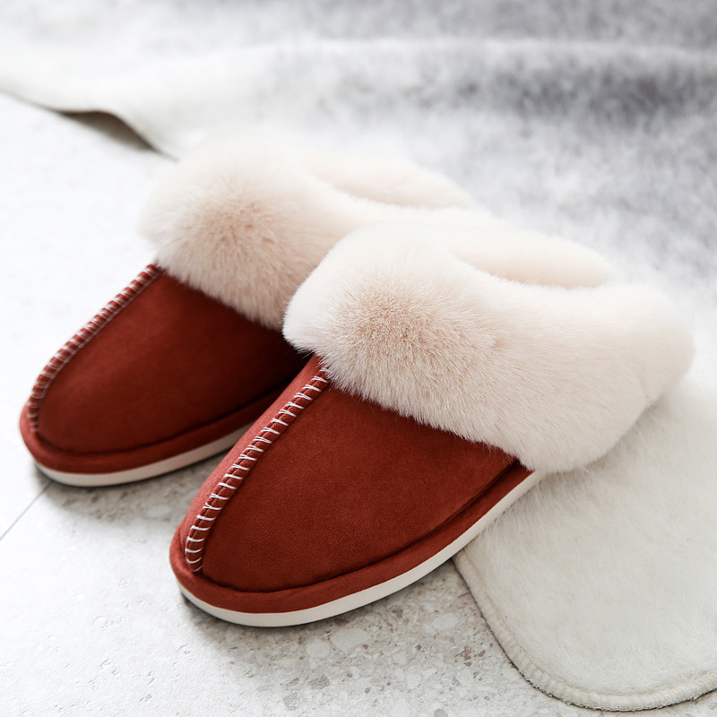 Suede Cotton Slippers