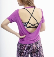 Ladies knitted open back top . Brand HYDRA