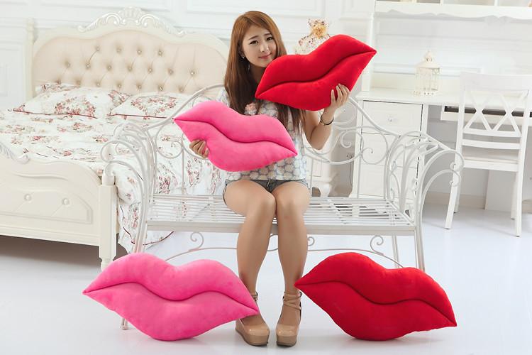 Cute Creative Plush Lips Pillow 50 - 60 cm