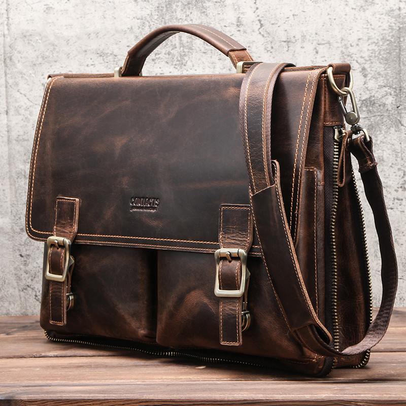 Leather Mens Business Briefcase 9