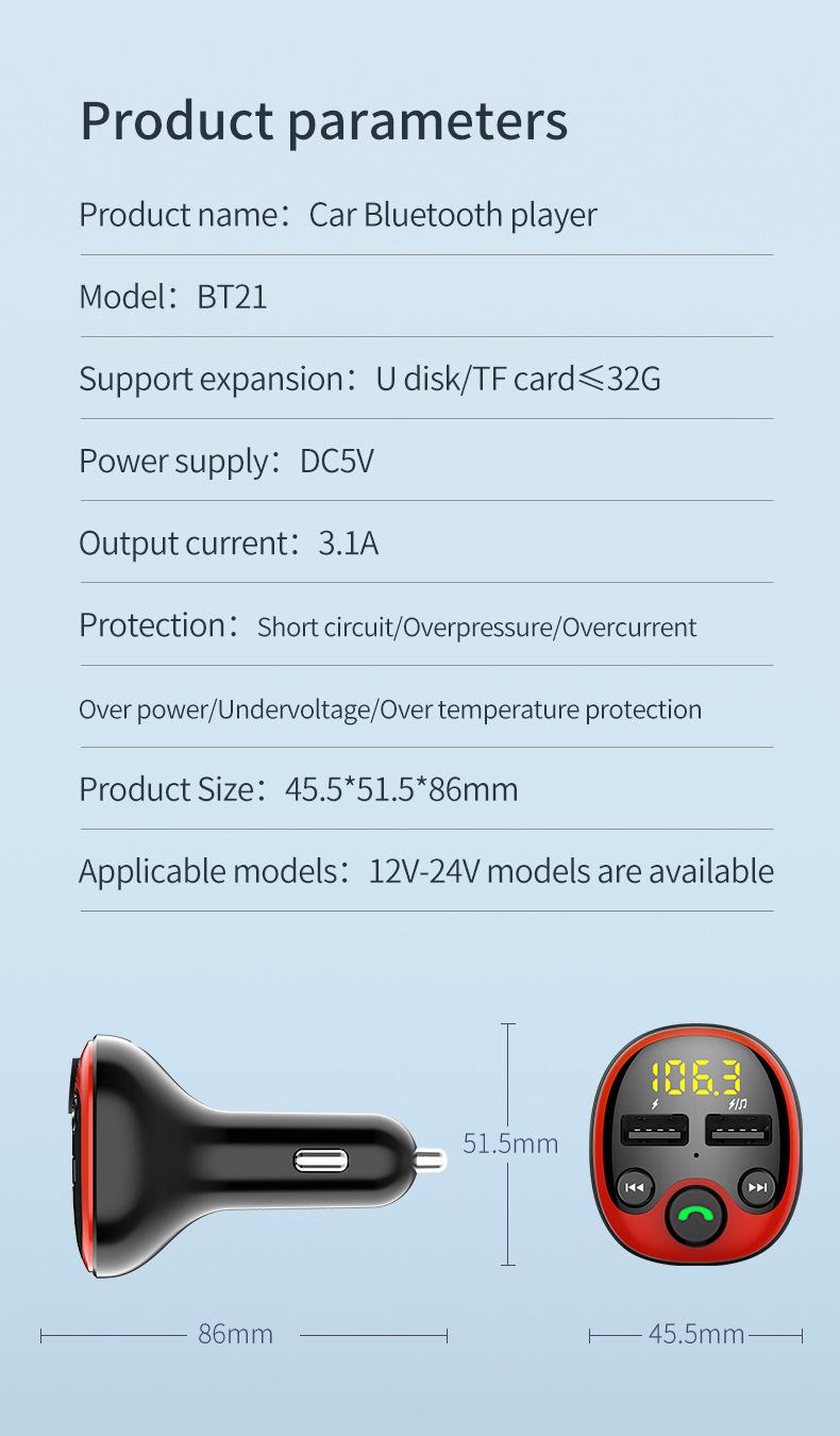 BT21 Bluetooth Auto MP3-Player