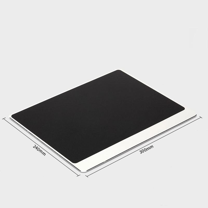 Tapis de souris aluminium matière double rebord 240x300 argent