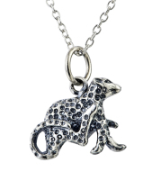 Sterling Silver Jewelry Leopard Retro marcasite Necklace