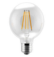 FILAMENT BULB G25 5.5W 500LM 2700K E26 DIMMABLE 110-130V 4F UL QUALIFIED