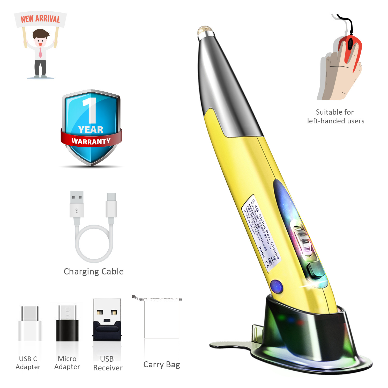 Personalized Creative Vertical Pen Mouse allinonehere.com