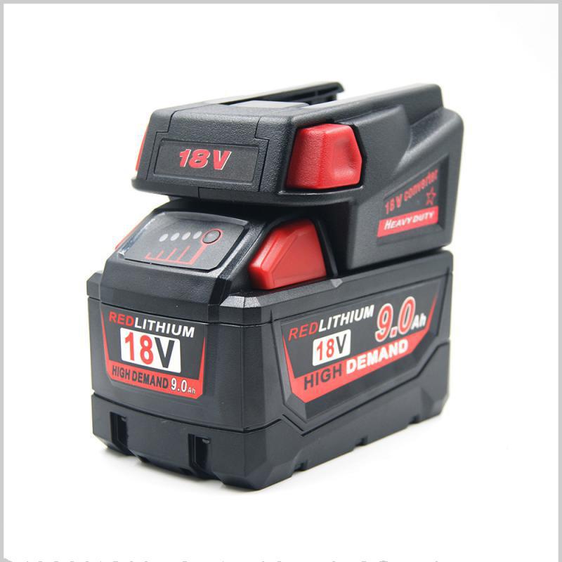 Adapter Converter for Milwaukee M18 18V Li-ion Battery to Milwaukee V18 48-11-1830 Battery;48-11-2200 48-11-2230 18V NI-CD Tool Battery Battery