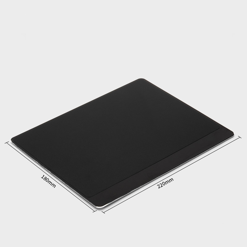 Tapis de souris aluminium matière double rebord 180x220 noir