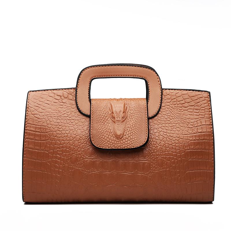 Crocodile Faux Leather Handbag 11