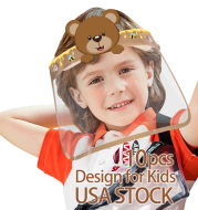 10PCS Kids Safety Face Shields for grinding Reusable Full Face Transparent protection