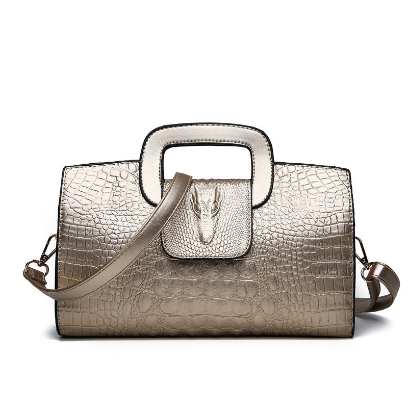 Crocodile Faux Leather Handbag 10