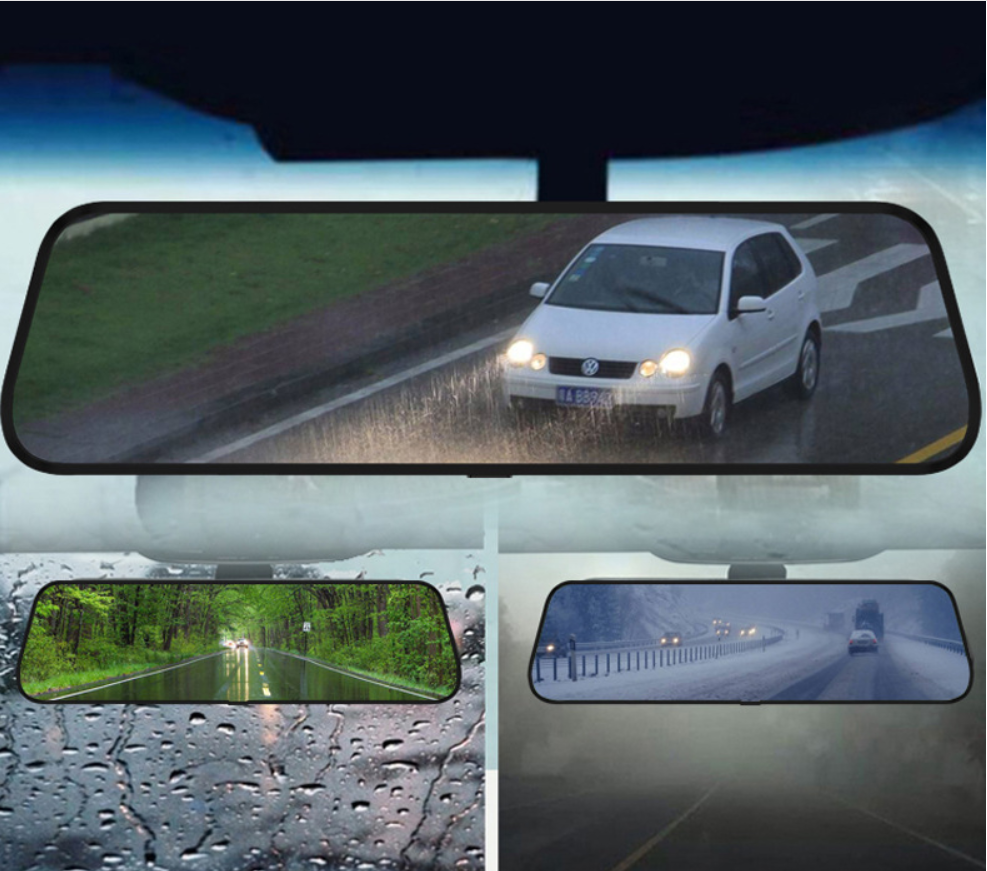 Front and Rear Dual Recording Rear View Mirror Dash Cam