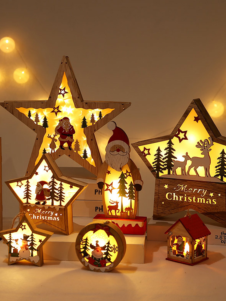 Christmas LED Wooden Star Decoration