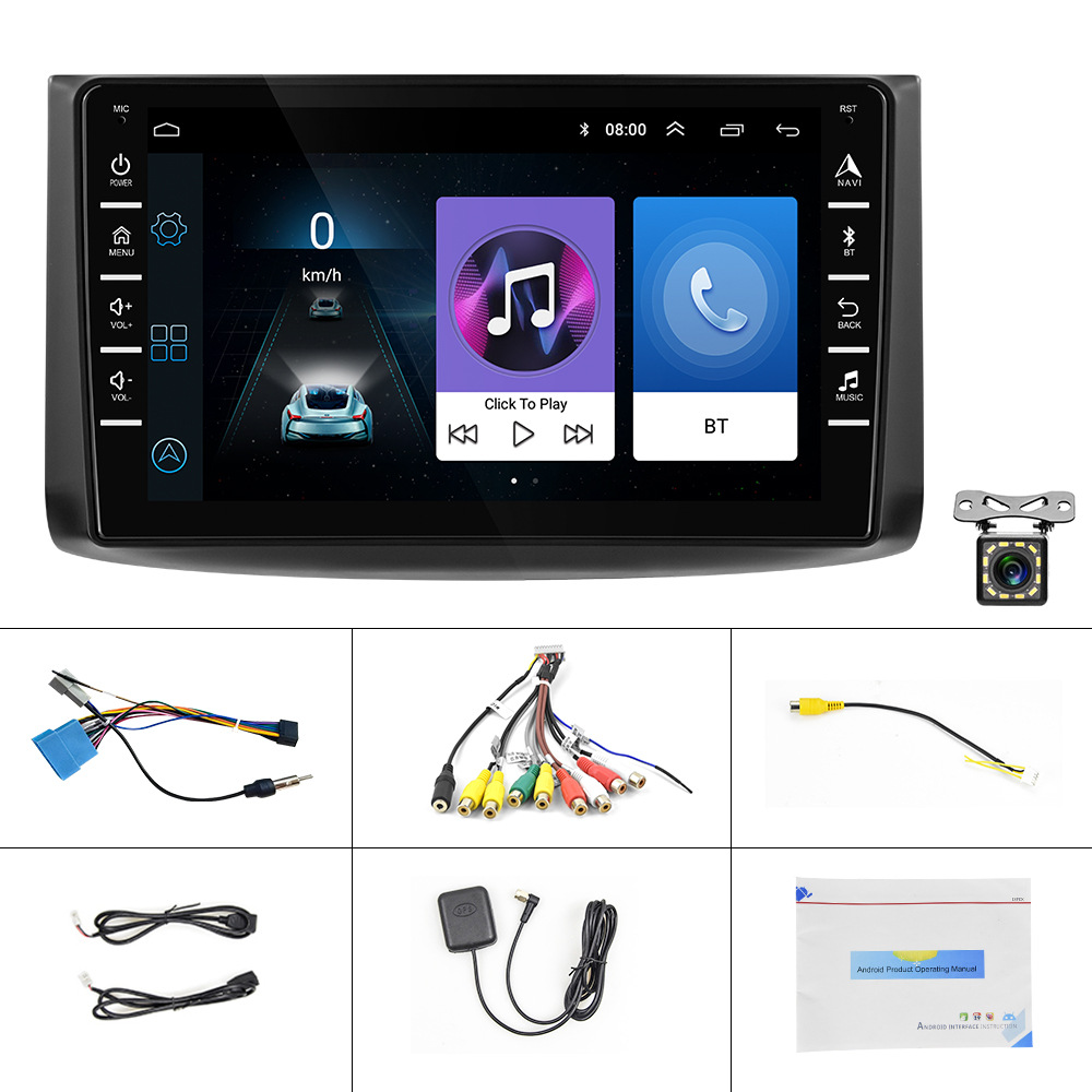 HD 8-inch Touch Screen Android 9.1 GPS Navigation Bluetooth RDS With Rear view function