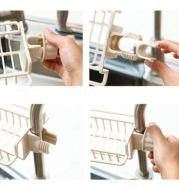 Rak Holder Tempel Faucet Plastik Untuk Penyimpanan Spons Alat Mandi dan Handuk T3054