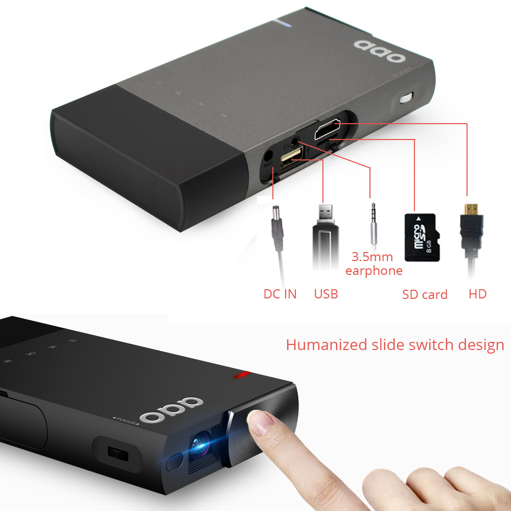 AAO Home Mobile-phone Projector