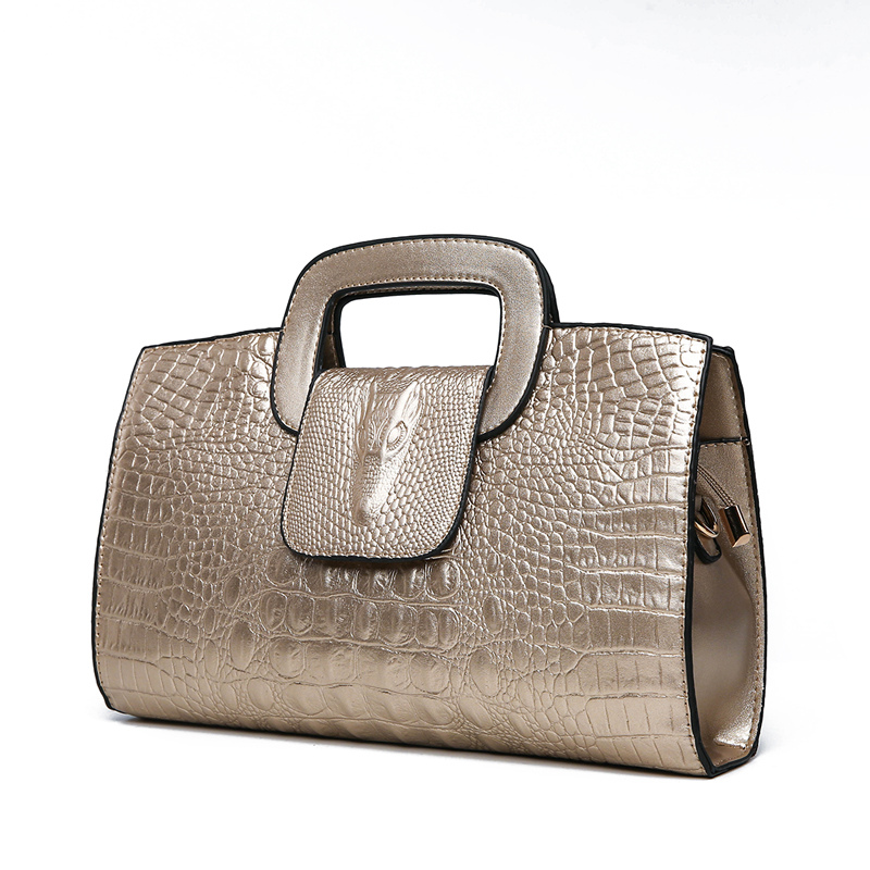Crocodile Faux Leather Handbag 7