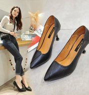 Black stiletto heel shoes