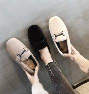 Mid Heel Round Toe Flat Peas Shoes