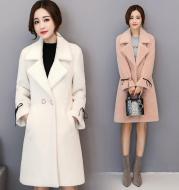 Leather sheep mink coat