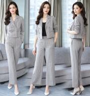 Short suit coat High Waist Wide Leg Pants