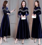 Mid-waist Spring 2019 Long-sleeved Fashion Long-style Liuzhou Slim Dresses
