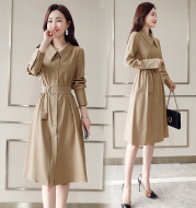 Bottomed long sleeve spring and autumn long skirt